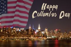 Drapeau de New York City et des Etats-Unis Photo stock