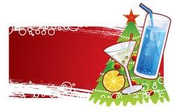 Drapeau de Noël Images stock