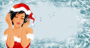 Drapeau de Noël illustration libre de droits