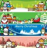 Drapeau de Noël Photos libres de droits