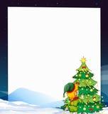Drapeau de Noël Images libres de droits