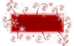Drapeau de Noël Photo libre de droits
