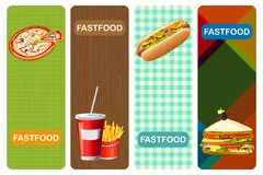 Drapeau de nourriture illustration stock