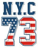 Drapeau de NYC 73 Amérique Photos stock
