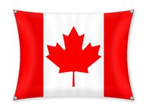 Drapeau de ondulation de Canada illustration stock
