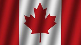 Drapeau de ondulation de Canada animation longueur Fond banque de vidéos
