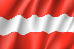 Drapeau de ondulation d'état de l'Autriche Images stock