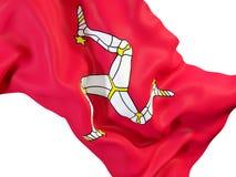 Drapeau de ondulation d'île de Man Photos libres de droits