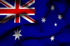 Drapeau de ondulation d'Australie illustration stock