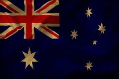 Drapeau de ondulation d'Australie illustration de vecteur