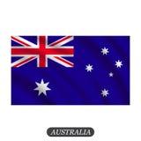 Drapeau de ondulation d'Australie sur un fond blanc Illustration de vecteur illustration stock