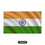 Drapeau de ondulation d'Inde sur un fond blanc Illustration de vecteur Images libres de droits