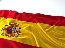 Drapeau de ondulation de l'Espagne Images libres de droits