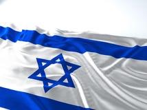 Drapeau de ondulation de l'Israël Photo libre de droits