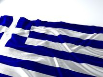 Drapeau de ondulation de la Grèce Image libre de droits