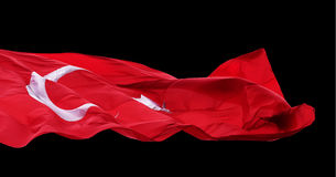Drapeau de ondulation de la Turquie Images stock