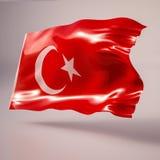 Drapeau de ondulation de la Turquie Photo libre de droits