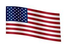 Drapeau de ondulation des Etats-Unis d'Amérique illustration de vecteur