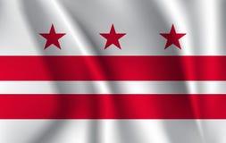 Drapeau de ondulation de District de Columbia 10 ENV illustration libre de droits