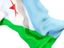 Drapeau de ondulation de Djibouti Photographie stock libre de droits
