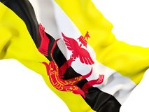 Drapeau de ondulation du Brunei illustration stock