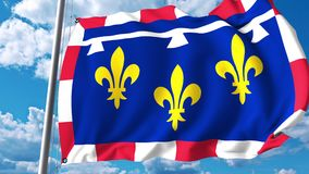 Drapeau de ondulation du centre-Val De la Loire une région des Frances illustration de vecteur