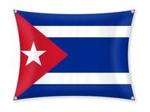 Drapeau de ondulation du Cuba illustration stock