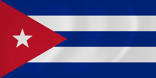 Drapeau de ondulation du Cuba illustration de vecteur