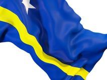 Drapeau de ondulation du Curaçao illustration stock