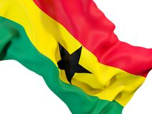 Drapeau de ondulation du Ghana illustration stock