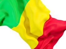 Drapeau de ondulation du Mali illustration stock