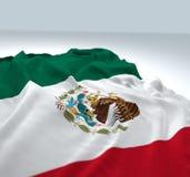 Drapeau de ondulation du Mexique Images libres de droits
