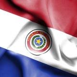 Drapeau de ondulation du Paraguay illustration libre de droits