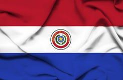 Drapeau de ondulation du Paraguay illustration de vecteur