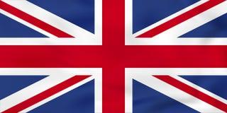 Drapeau de ondulation du Royaume-Uni Texture BRITANNIQUE de fond de drapeau national illustration de vecteur