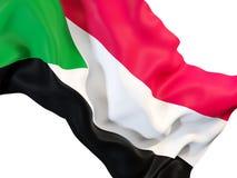 Drapeau de ondulation du Soudan illustration stock