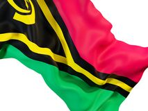 Drapeau de ondulation du Vanuatu illustration stock