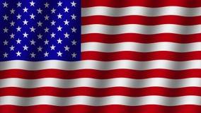Drapeau de ondulation de fond de l'Amérique longueur illustration libre de droits