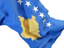 Drapeau de ondulation de Kosovo illustration stock