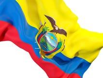 Drapeau de ondulation de l'Equateur illustration de vecteur