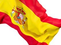 Drapeau de ondulation de l'Espagne illustration de vecteur