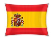 Drapeau de ondulation de l'Espagne illustration stock