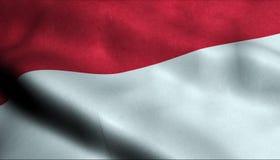 Drapeau de ondulation de l'Indonésie dans 3D illustration de vecteur