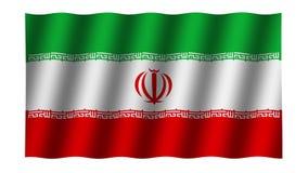 Drapeau de ondulation de l'Iran animation longueur Fond clips vidéos