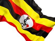Drapeau de ondulation de l'Ouganda illustration libre de droits
