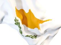 Drapeau de ondulation de la Chypre illustration de vecteur