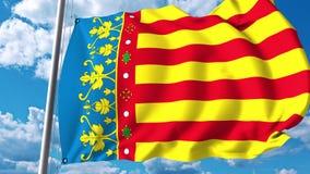 Drapeau de ondulation de la Communauté Valencian une région autonome en Espagne illustration de vecteur