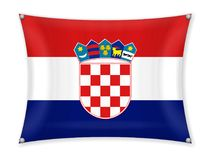 Drapeau de ondulation de la Croatie illustration de vecteur