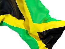 Drapeau de ondulation de la Jamaïque illustration libre de droits