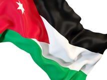 Drapeau de ondulation de la Jordanie illustration libre de droits